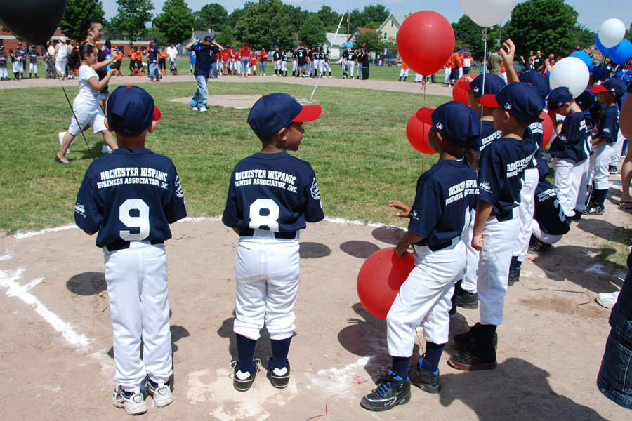 Hispanic Little League Baseball Team