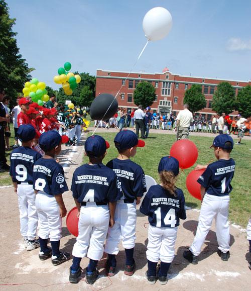 Hispanic Little League Baseball Team