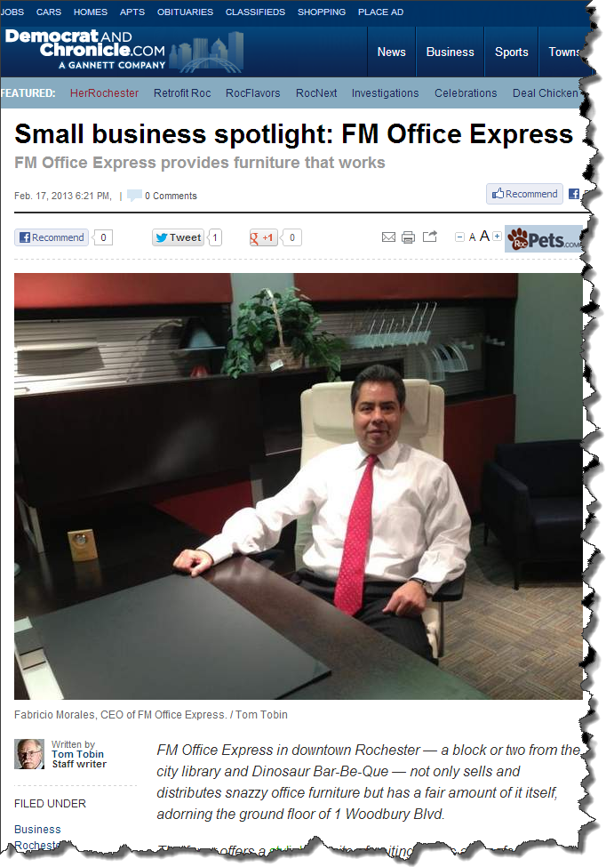 FM Office Express article at the D&C