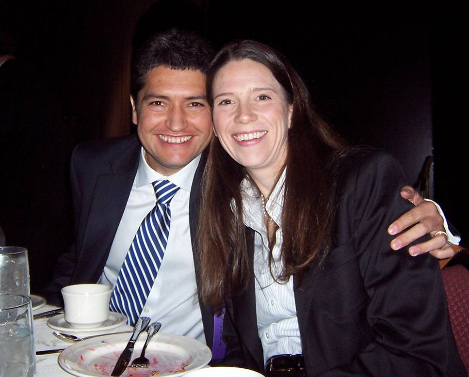 Mauricio and Beth at the event