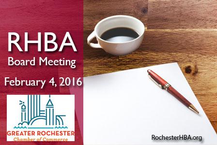 RHBA Board Meeting: February 2016