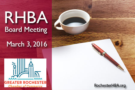 RHBA Board Meeting: March 2016